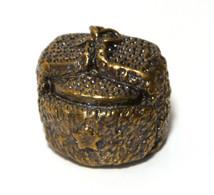 Thimble USHANKA Russian Fur Winter Cap Solid Brass Metal Russian Souvenir Collection - Dés à Coudre