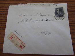 N° 432 (POORTMAN) Seul Sur Lettre Recommandée De BOVIGNY En 1937 (un Peu Rabotée En Haut à Gauche) - 1936-1951 Poortman