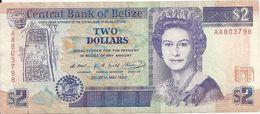 BELIZE 2 DOLLARS 1990 VF P 52 A - Belize