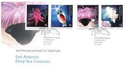 (G 27) Australia - AAT - Premier Jour / FDC - 2017 - Deep Sea Creatures - FDC