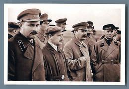 STALIN And Comrade-in-arms Ally Comminist Propaganda Russian Unposted Postcard - Politik