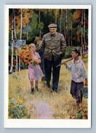 1967 LENIN With KIDS Forest Propaganda Communist By Sakhanov Vintage Postcard - Politik