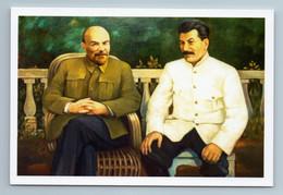 LENIN And STALIN Leaders Of Soviet Communists Propaganda USSR New Postcard - Politik