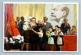 USSR CPSU AWARDS Rewardin Soviet PIONEERS LENIN Propaganda New Unposted Postcard - Heimat
