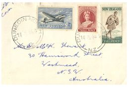 (G 27) Older FDC Cover - New Zealand - 1956 - FDC
