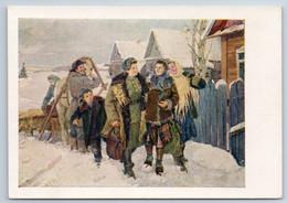 1955 WW2 Woman After WAR Award Come Back In KOLKHOZ Peasant Soviet USSR Postcard - Guerra 1939-45