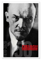Portrait Of LENIN Moscow 1920 Soviet Communist Leader 150 Anniv NEW Postcard - Politik