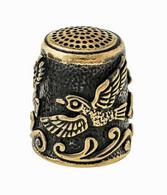 Thimble BIRDS Of PARADISE Two Tone Solid Brass Metal Russian Souvenir Collection - Dés à Coudre