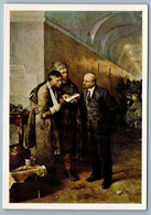 1974 LENIN Communist Leader W/ Revolutionaries Read Letter Soviet USSR Postcard - Politik