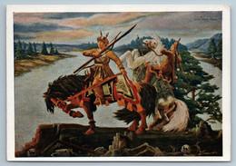 1958 YAKUT HERO With Bride Horse Far North Epic Tale Ethnic Soviet USSR Postcard - Illustratori & Fotografie