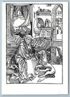 1977 St. Jerome In His Study From A Lion's Paw By Albrecht Durer VTG Postcard - Illustratori & Fotografie