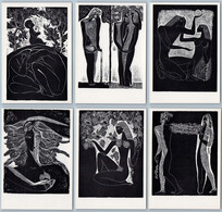 STASYS KRASAUSKAS Woodcut Lithuania Graphic RARE Shakespeare Set 13 Postcards - Illustratori & Fotografie