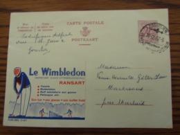 """PUBLIBEL N° 2187 """"LE WIMBLEDON"""" à RANSART Oblitéré Gosselies (centre Aéronautique) En 1968 (cote 40,00) - Ganzsachen"""