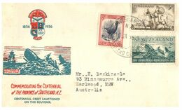 (G 27) Older FDC Cover - Posted From New Zealand To Australia - Southland Centenary (1956) - FDC