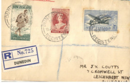 (G 27) Older FDC Cover - Posted From New Zealand To Australia - Registered - 1955 [nº 725] - FDC