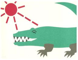 (G 28) Crocodile / Alligator (with Japan Stamps With US Flag) - Animaux & Faune
