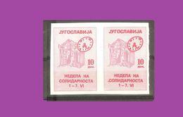 Yugoslavia - 1986. Red Cross, Imperforate Pair, MNH /666/ - Non Dentellati, Prove E Varietà