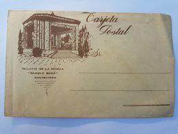 SOBRE TARJETA POSTAL URUGUAY PALACIO DE LA MUSICA PARQUE RODO - MONUMENTO ARTIGAS, MONTEVIDEO - Altro Materiale