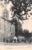 LABRUGUIERE Campement Des Chevaux Sous Le Clocher 40(scan Recto-verso) MA850 - Labruguière