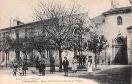 LABRUGUIERE Place De La Mairie Et Entree De L Eglise 23(scan Recto-verso) MA850 - Labruguière