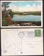Postcard - USA - 1938 - Piseco Lake, From Panther MT, Adirondacks - Circulee - A1RR2 - NY - New York