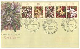 (G 29) Australia - Christmas Island FDC - Orchids - 1994 - Christmas Island