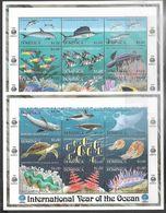 Dominica   1998  Sc#2085-6 Marine Life Souv Sheets  MNH   2016 Scott Value $16 - Dominica (1978-...)