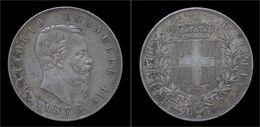 Italy Vittorio Emanuele II 5 Lire 1876 - 1861-1946 : Kingdom