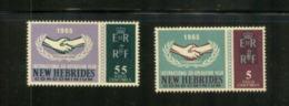 (stamp - 4-8-2020) New Hebrides Islands / Nouvelle Hébrides (Vanuatu) (mint Stamp) 2 Stamps (Co-Operation Year) - Vanuatu (1980-...)