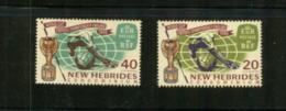 (stamp - 4-8-2020) New Hebrides Islands / Nouvelle Hébrides (Vanuatu) (mint Stamp) 2 Stamps (Football World Cup) - Vanuatu (1980-...)