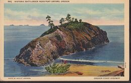 Postcard - USA - Circa 1940 - Port Orford - Historic Battlerock - Non Circulee - A1RR2 - Etats-Unis