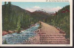 Postcard - USA - Circa 1940 - Rocky Mountains - Non Circulee - A1RR2 - Rocky Mountains