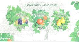 2019. Uzbekistan, Fruits Of Uzbekistan, S/s, Mint/** - Uzbekistan
