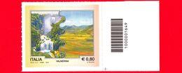 Nuovo - MNH - ITALIA - 2015 - Turismo - Umbria - Valnerina - Marmore - Castelluccio - 0,80 - Barre 1649 - Code-barres