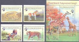 2019. Uzbekistan, Zoo Of Toshkent, 4v + S/s, Mint/** - Uzbekistán