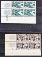 France PA  24, 25 Lille, Bordeaux Blocs De 4 Coin Daté  1949  Neuf ** TB MNH Cote 102 - Poste Aérienne