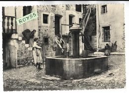 Friuli Venezia Giulia-udine-chiusaforte Veduta Donne Alla Fontana Di Raccolna Che Prendono L'acqua Anni 50 - Andere Steden