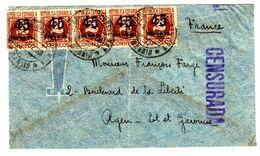 35299 - 5 TP Avec Surcharges - 1931-50 Briefe U. Dokumente
