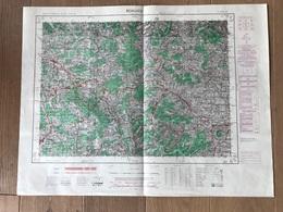 Carte 1/50000 BEAUJEU (Rhone) 1952 - Carte Geographique