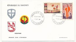 DAHOMEY => 2 Enveloppes FDC => SCOUTISME - Cotonou - 17 Octobre 1966 - Scoutisme