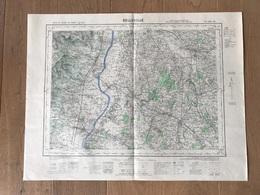 Carte 1/50000 BELLEVILLE (Rhone) 1954 - Carte Geographique