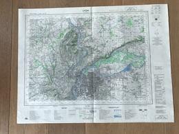 Carte 1/50000 LYON (Rhone) 1969 - Carte Geographique