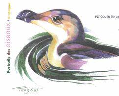PINGOUIN TORDA ( OISEAU DE BRETAGNE ) ILLUSTRATION SIGNEE - PAP ENTIER POSTAL FLAMME LA POSTE 2010, VOIR LES SCANNERS - Pingouins & Manchots