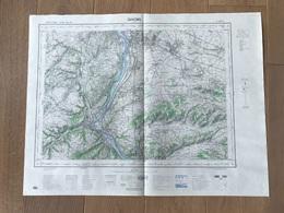 Carte 1/50000 VIENNE (Rhone) 1968 - Cartes Géographiques