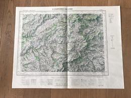 Carte 1/50000 ST SYMPHORIEN SUR COISE (Rhone) 1958 - Cartes Géographiques