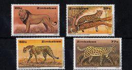 Zimbabwe - UMM Wildlife Conservation - Cats 1992 - Zimbabwe (1980-...)