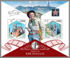 SIERRA LEONE 2020 MNH Tribute To Kirk Douglas Cinema Film Kino S/S - OFFICIAL ISSUES - DH2013 - Cinema