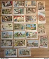 24 Cartes Postales Anciennes WALT DISNEY / PINOCCHIO Série Complète édition Séphéradès - Disney