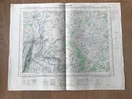 Carte 1/50000 VILLEFRANCHE SUR SAONE (Rhone) 1957 - Cartes Géographiques