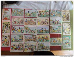 25 Cartes Postales Anciennes WALT DISNEY / BLANCHE NEIGE Série Complète édition Superluxe - Disney